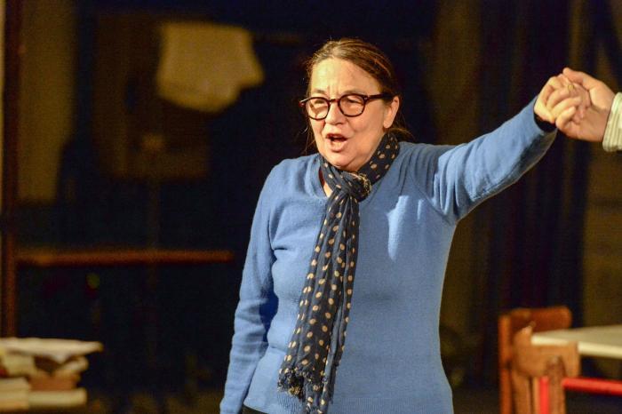 Maguy Marin lors des répétitions in Théâtre de La Casa de Espana ©Willy Vainqueur